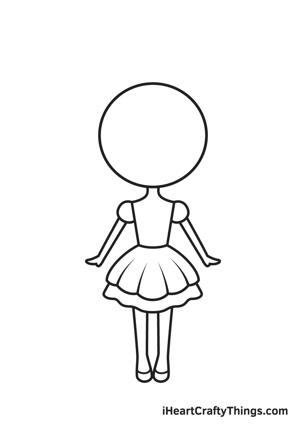 unicorn girl drawing step 6