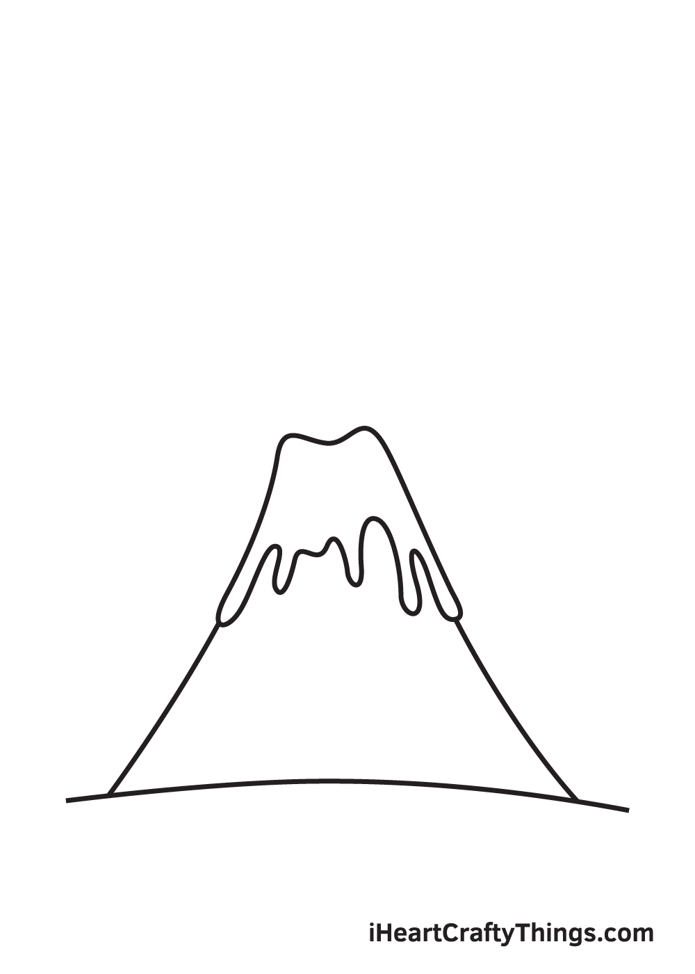 volcano drawing step 5