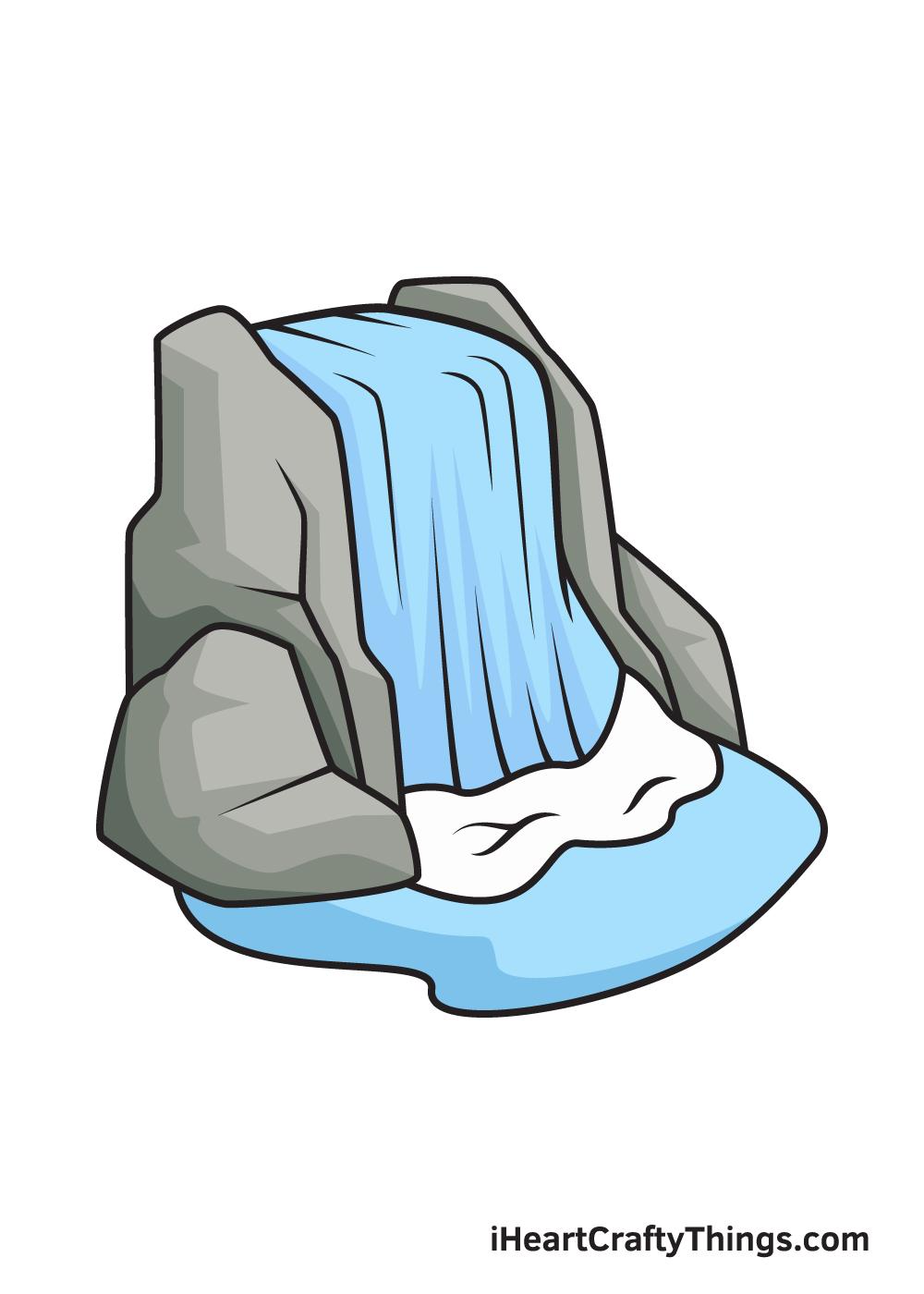 waterfall drawing 9 steps