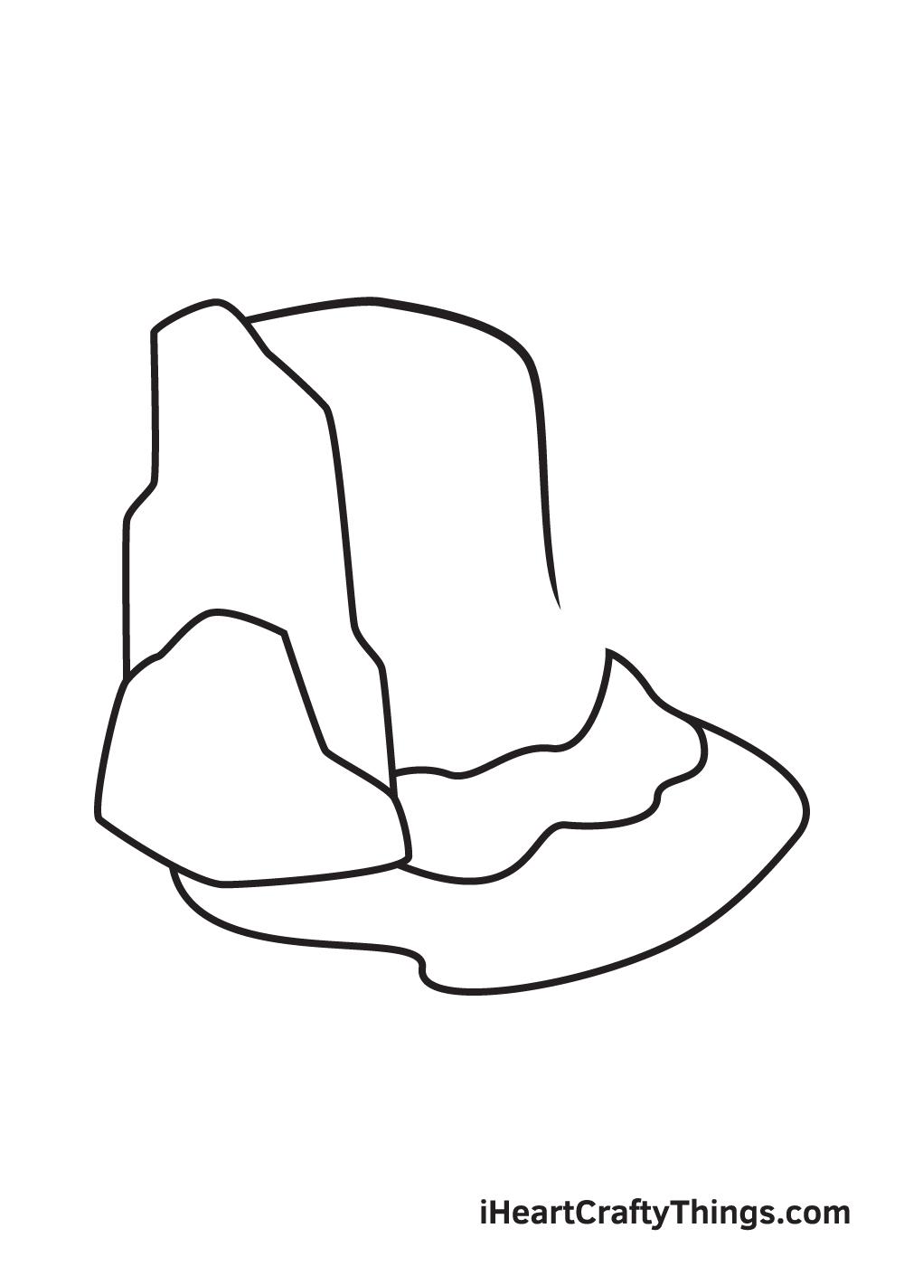 waterfall drawing step 5