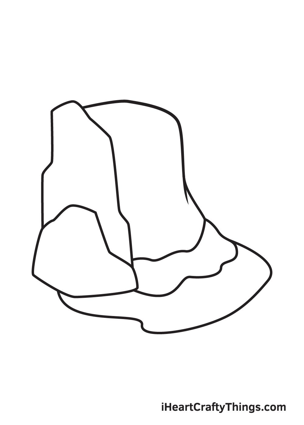 waterfall drawing step 6