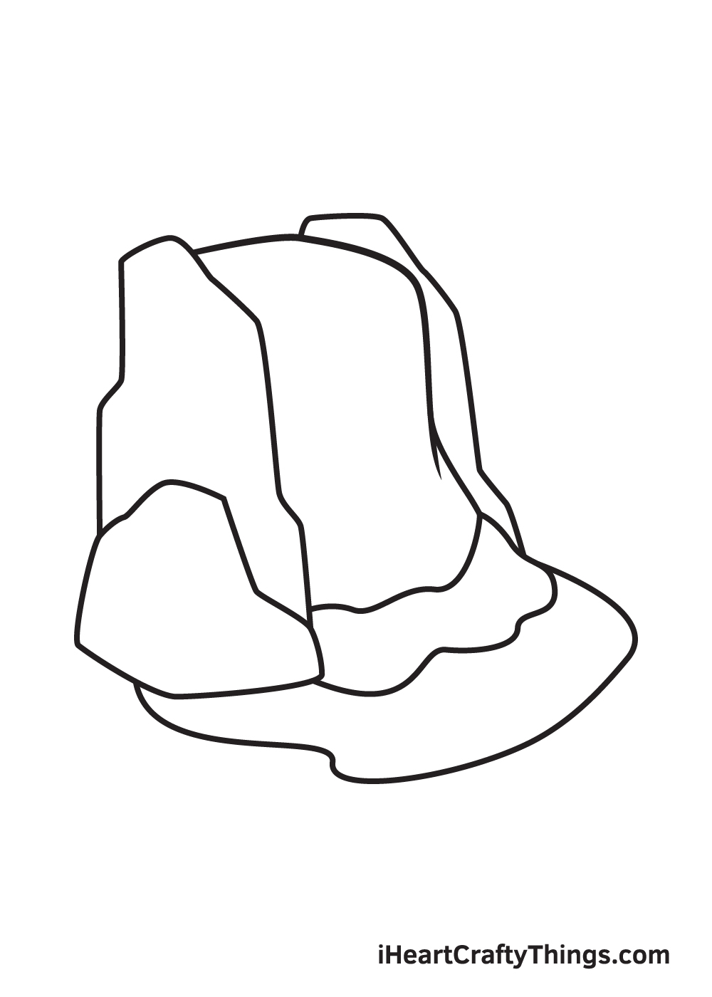 waterfall drawing step 7