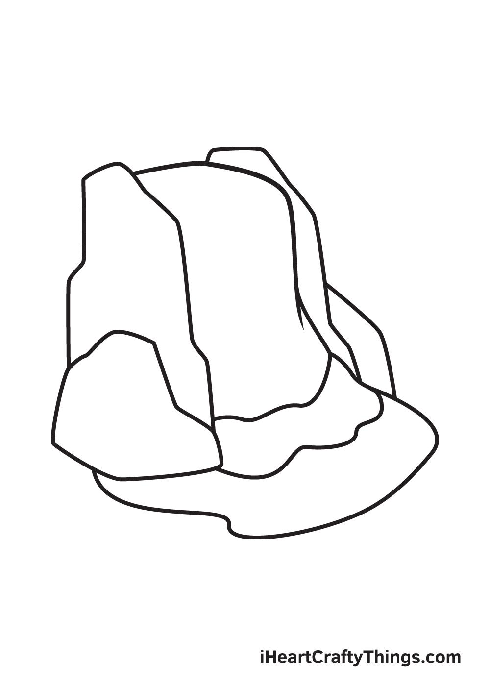 waterfall drawing step 8