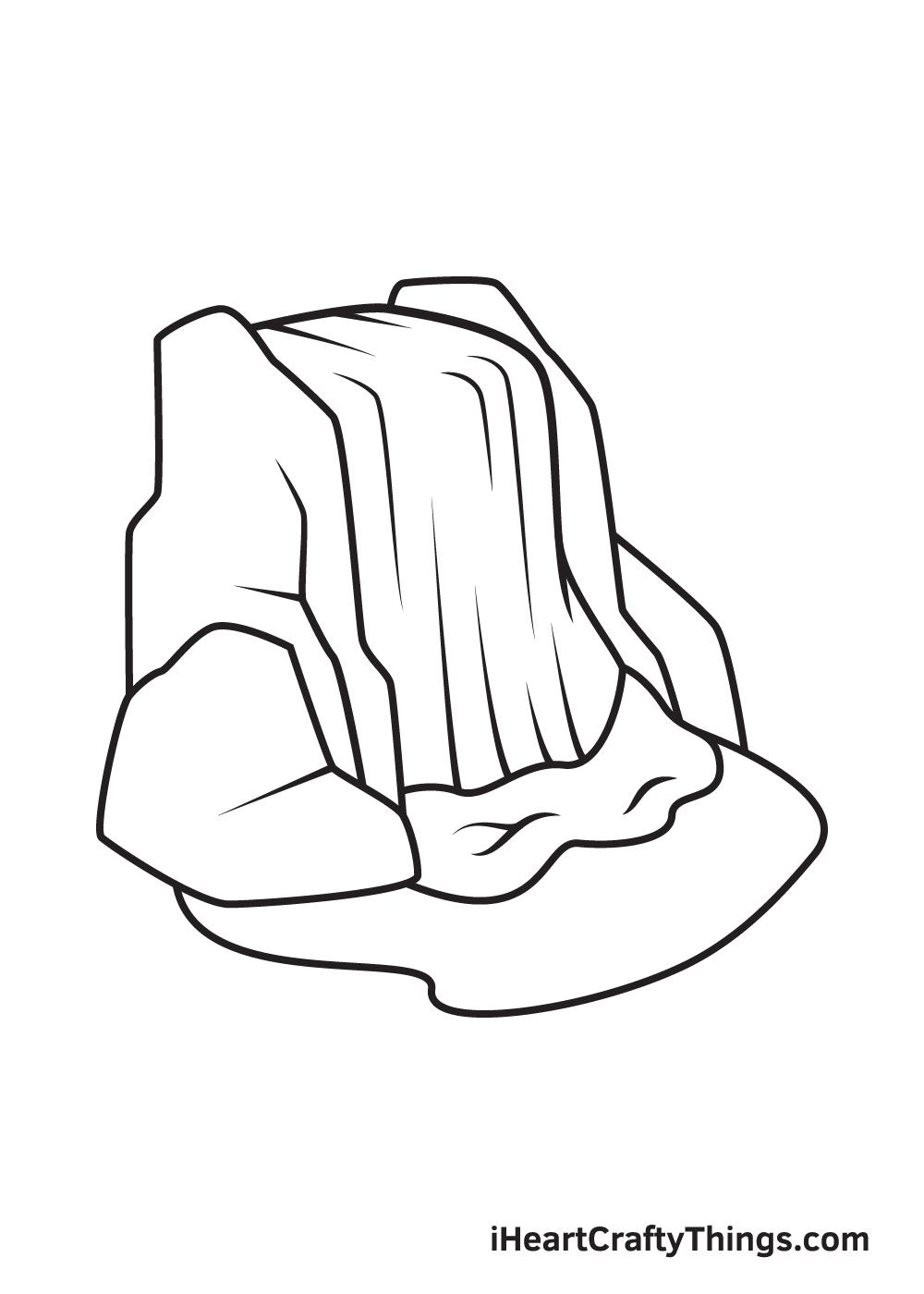 waterfall drawing step 9