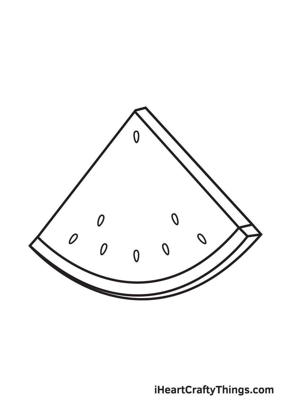 watermelon drawing step 4