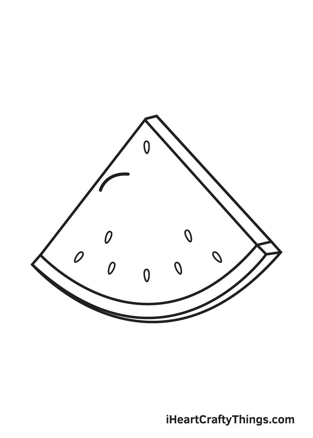 watermelon drawing step 5