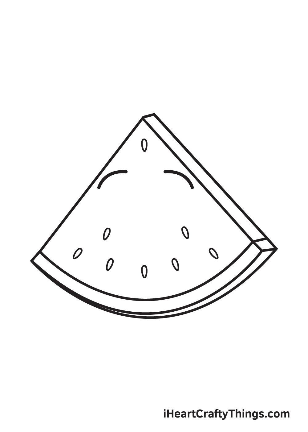 watermelon drawing step 6
