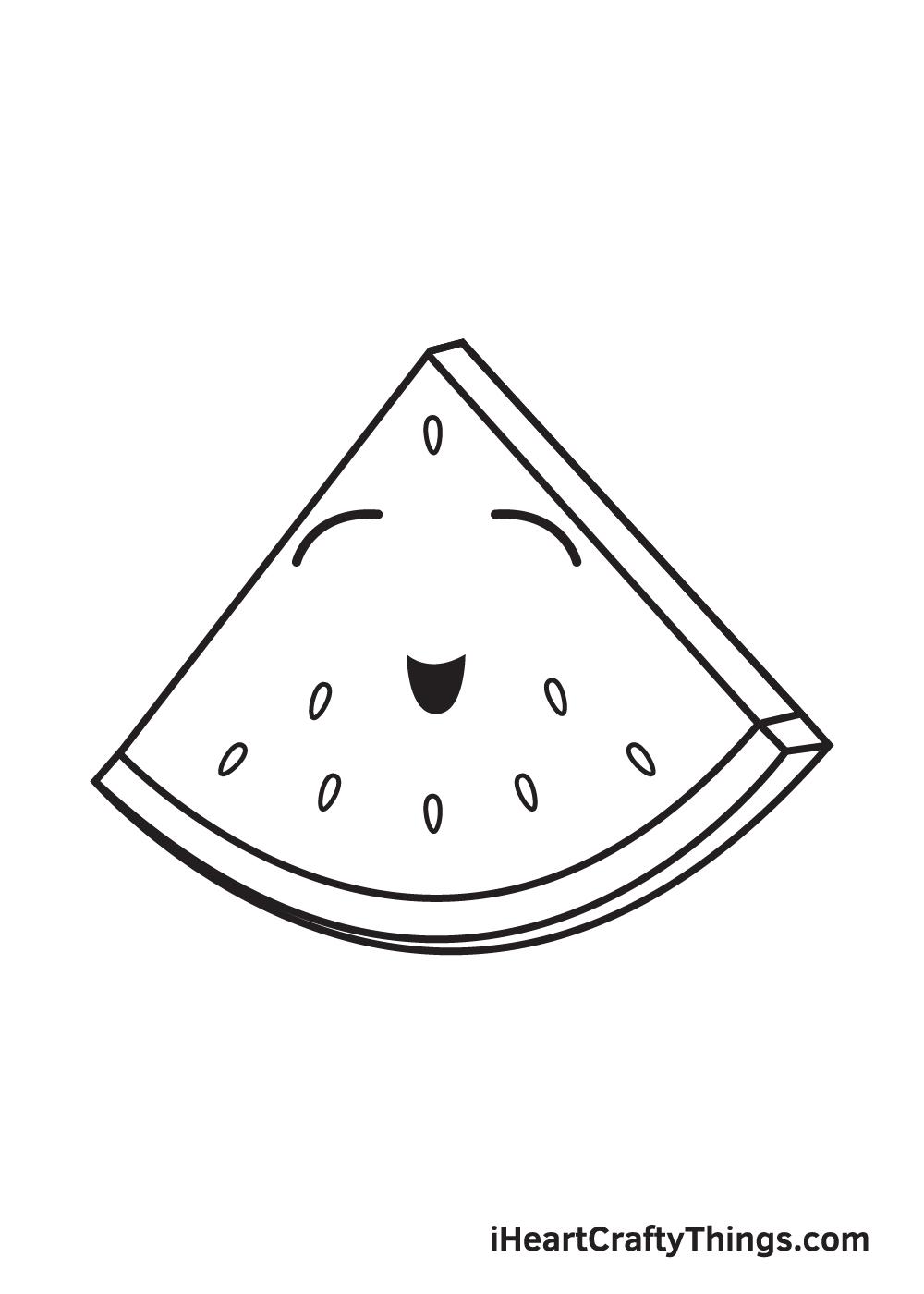 watermelon drawing step 7