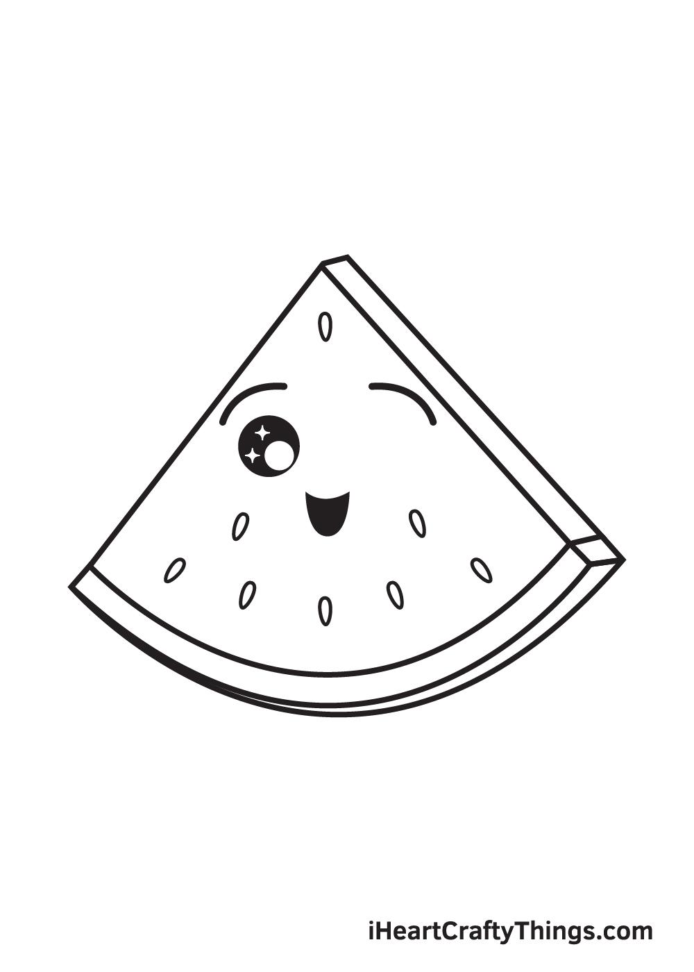 watermelon drawing step 8