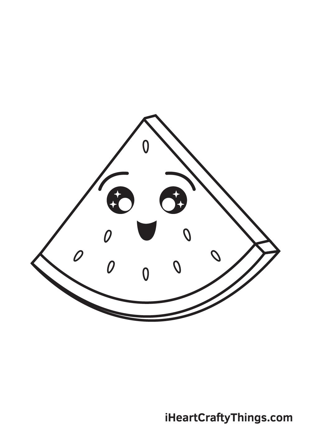 watermelon drawing step 9