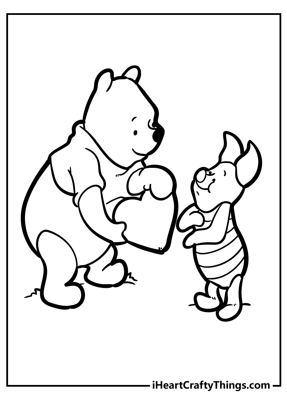 winnie the pooh and piglet coloring pages for kids printable
