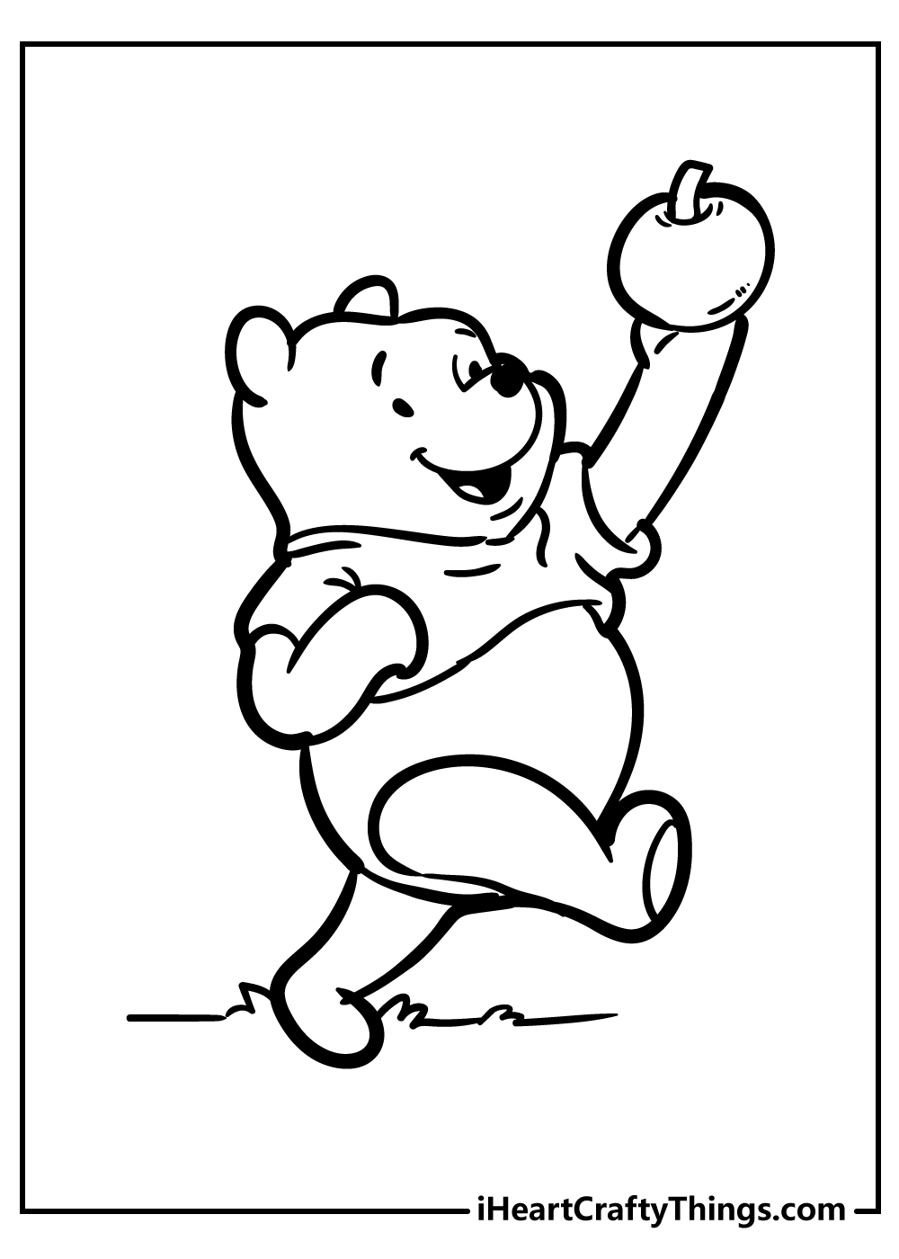 happy winnie the pooh colouring sheets free printable