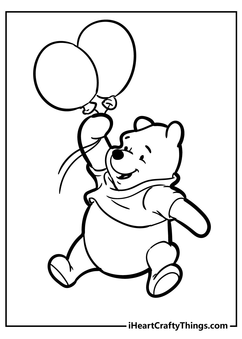 free printable pooh bear coloring sheets