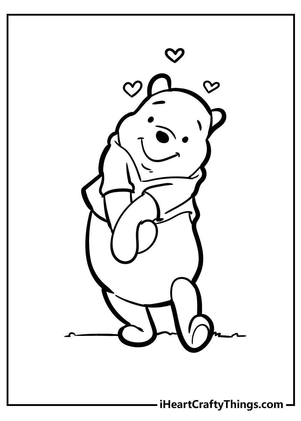 free printable pooh bear coloring pages for adults