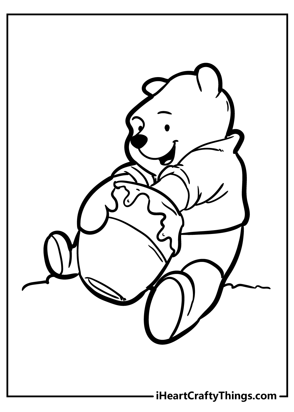 winnie the pooh as a baby coloring pages free printable