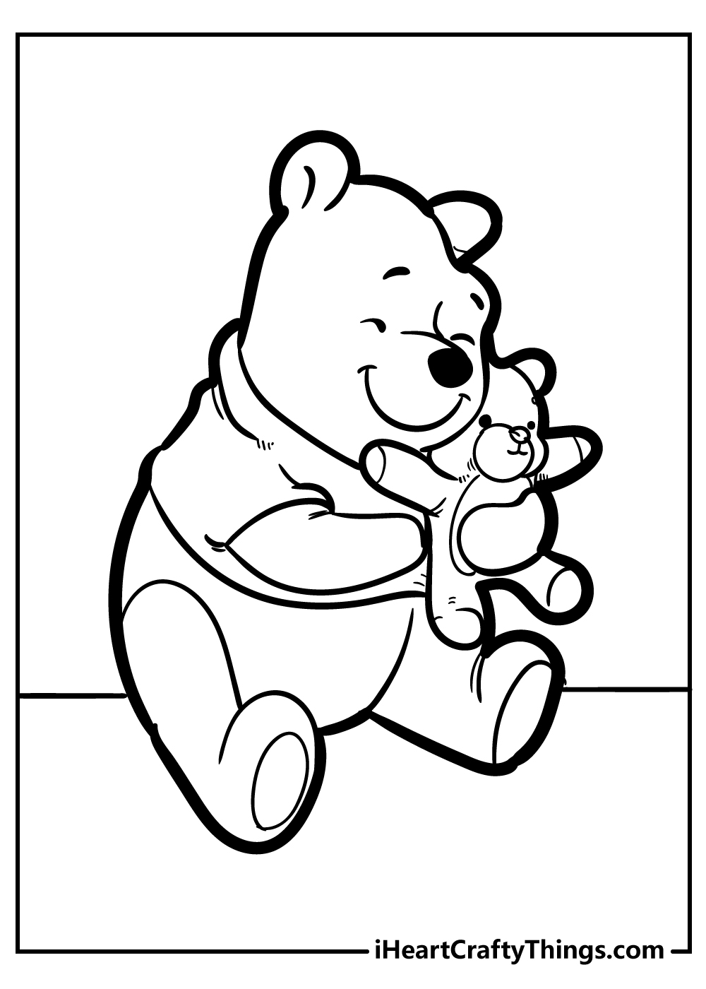 black and white winnie the pooh coloring sheets free printable