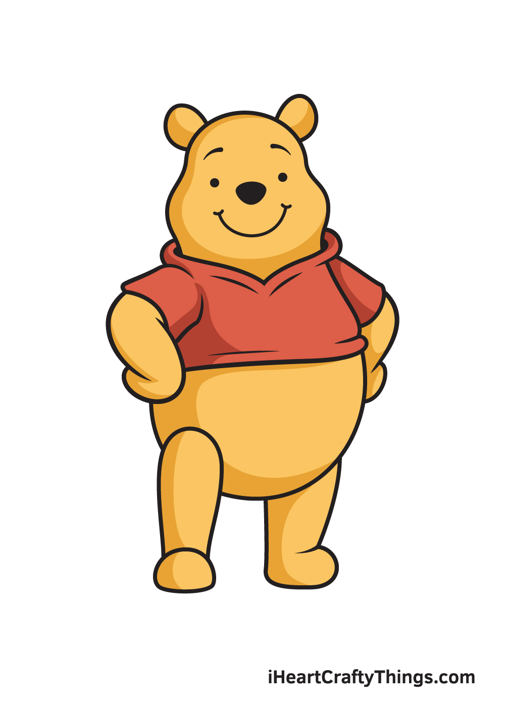 winnie the pooh drawing 9 steps