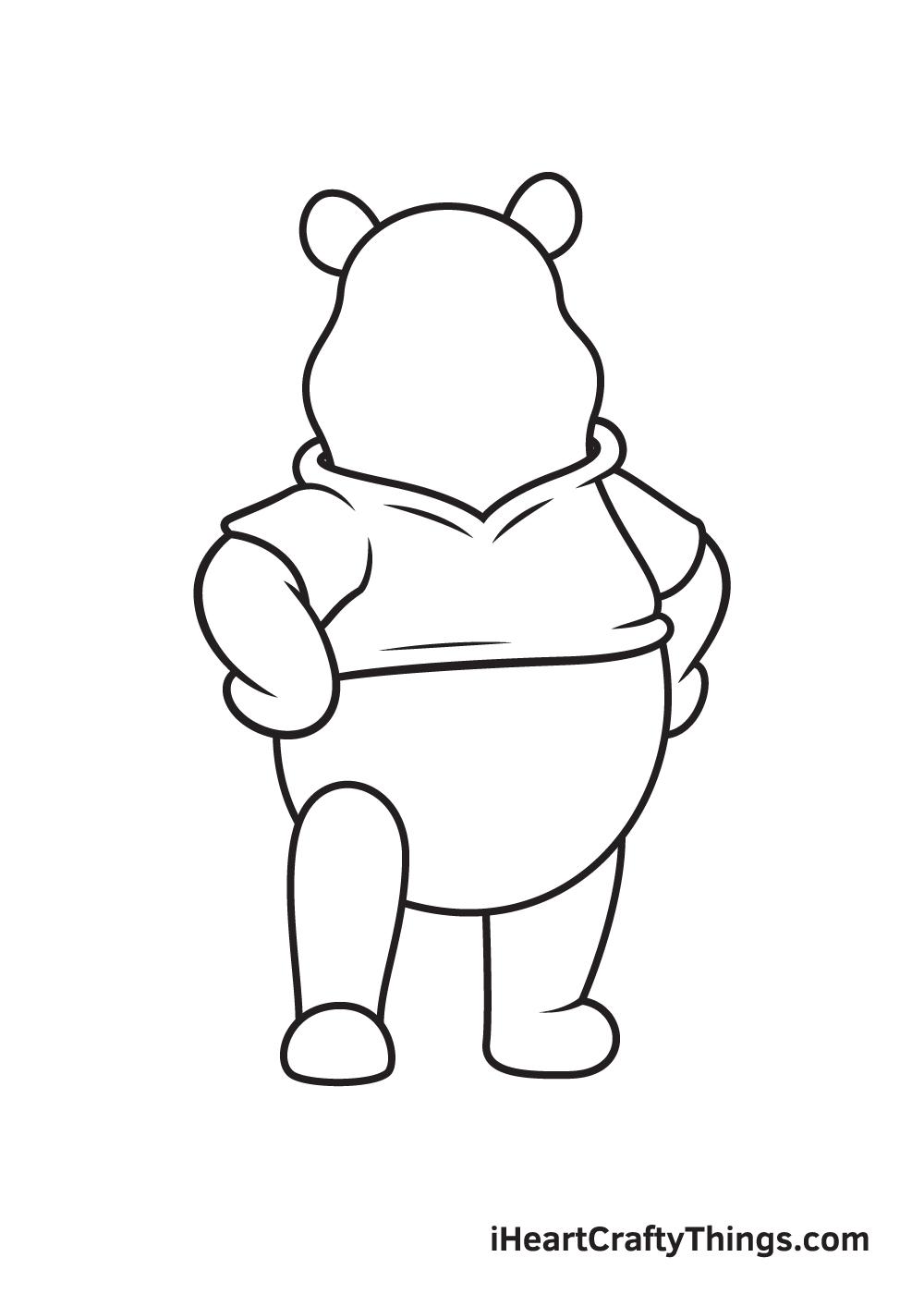winnie the pooh drawing step 8
