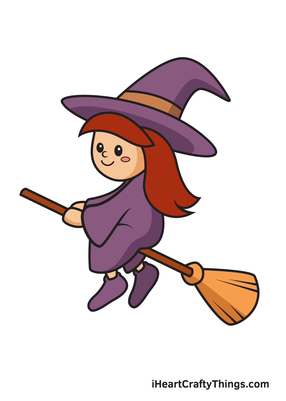 witch drawing 9 steps