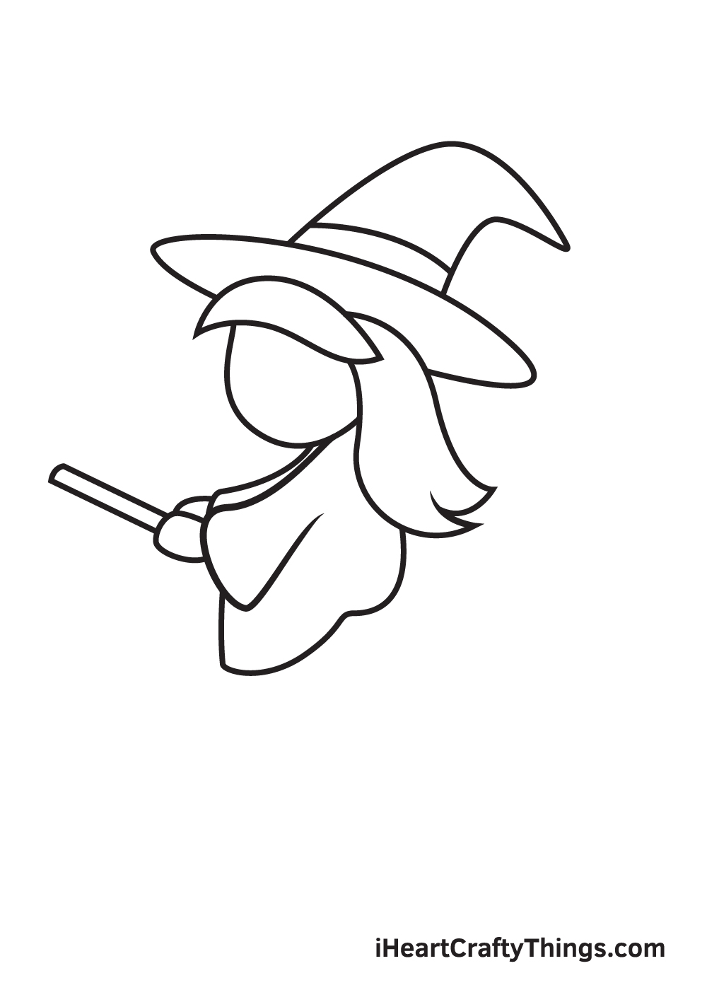 witch drawing step 6