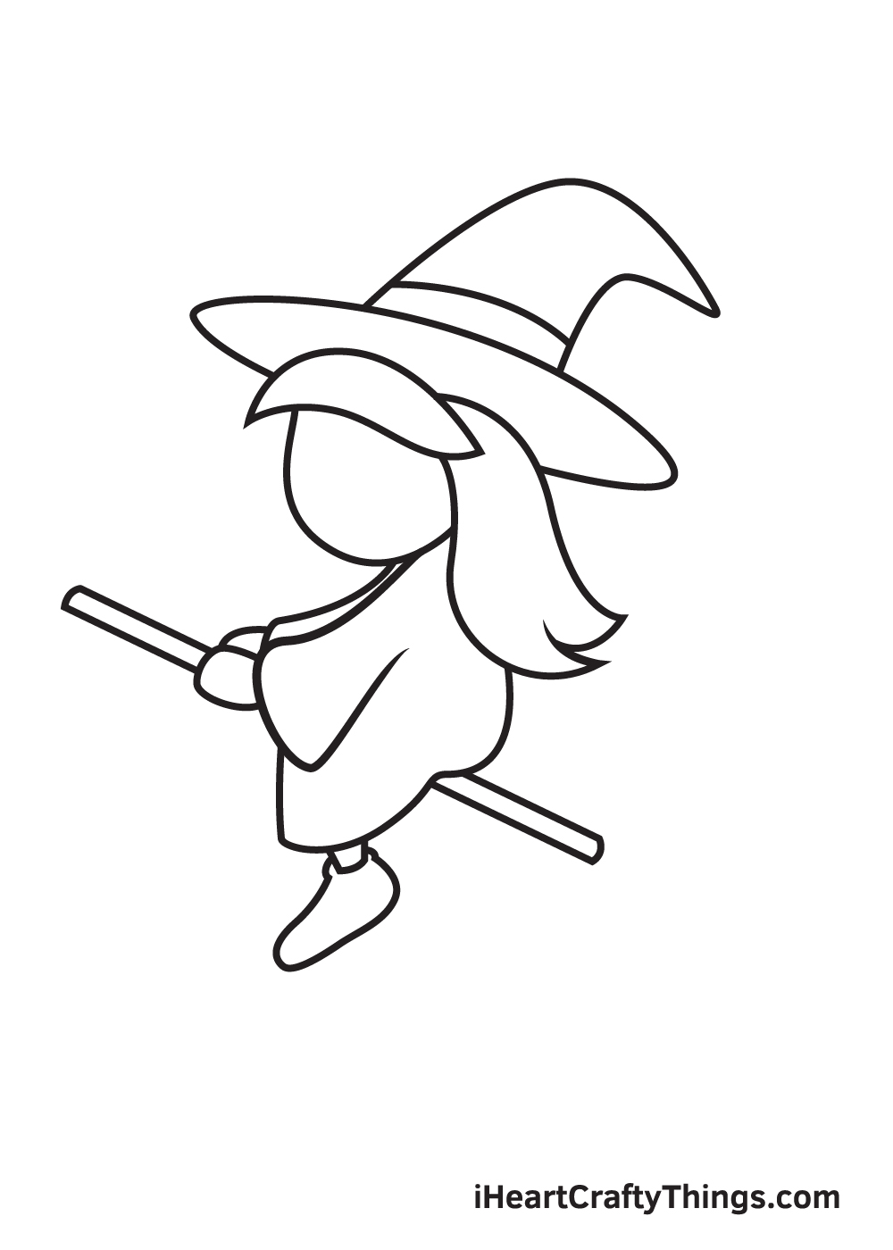 witch drawing step 7