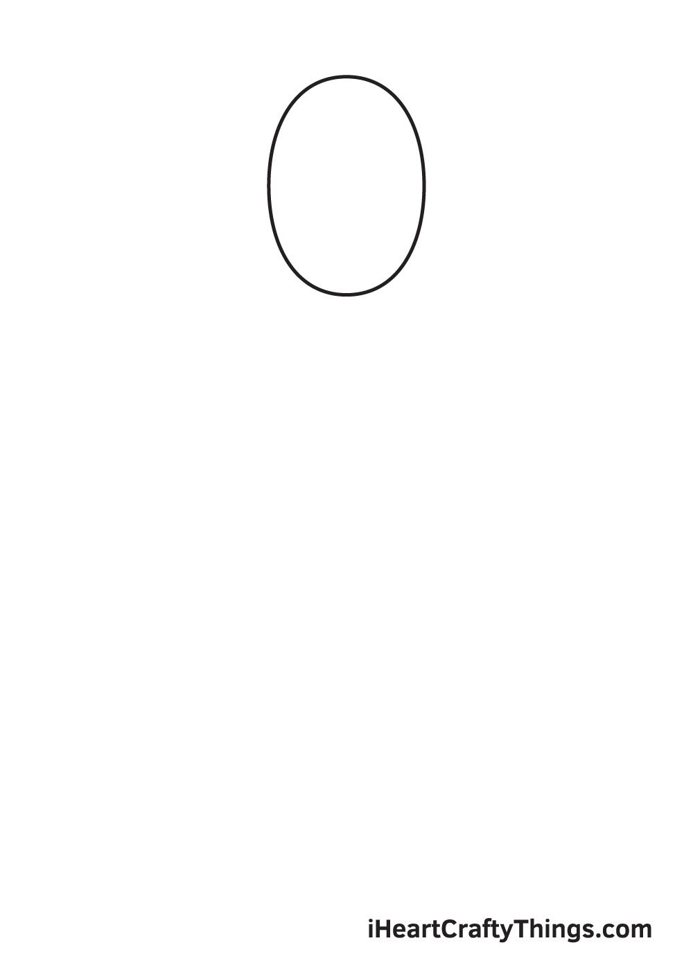 woman drawing step 1