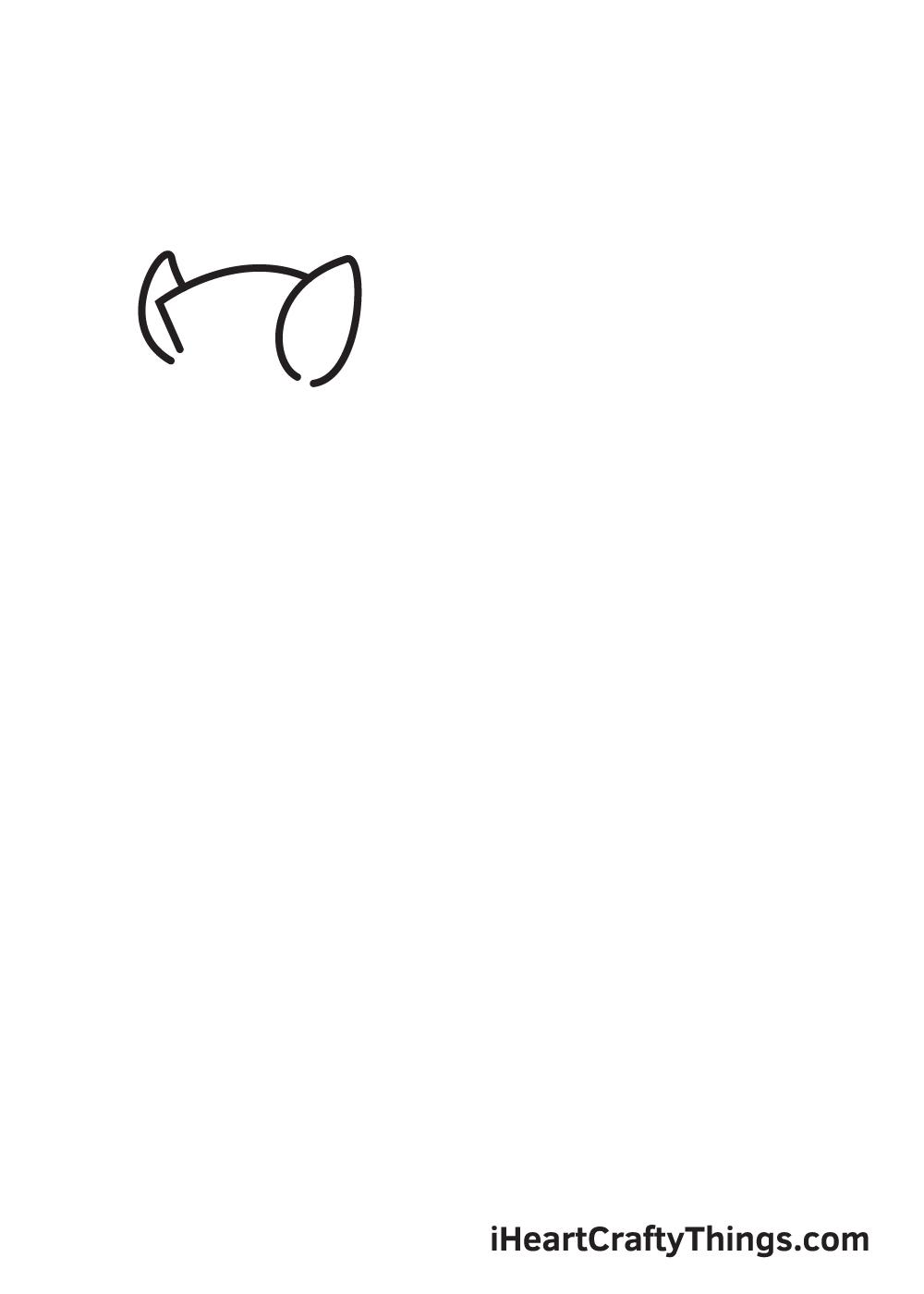 zebra drawing step 1