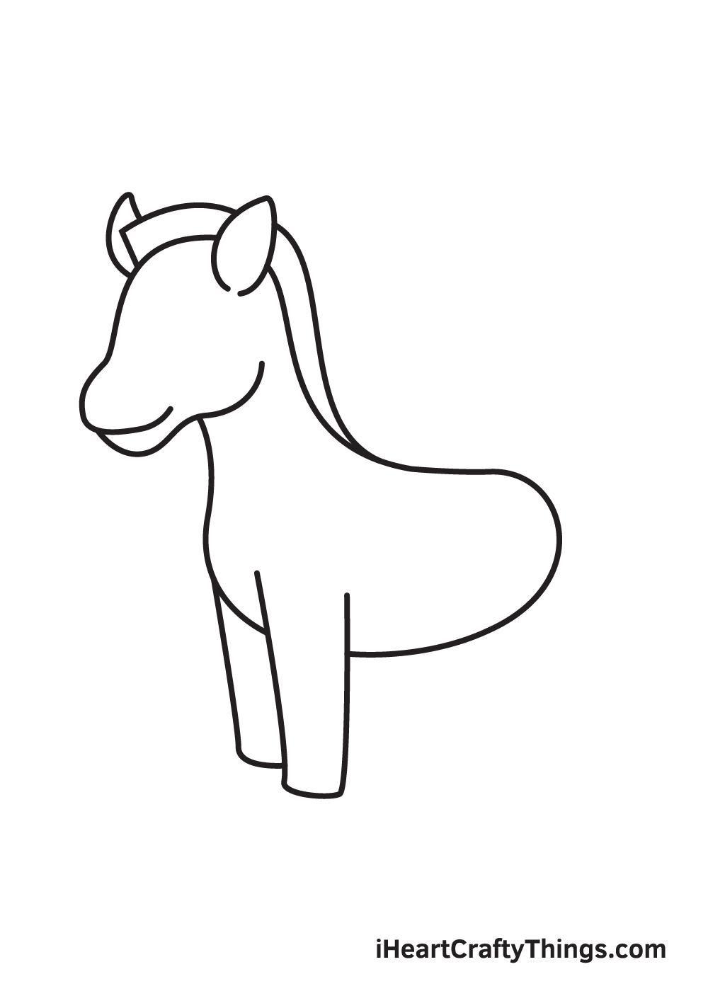 zebra drawing step 5