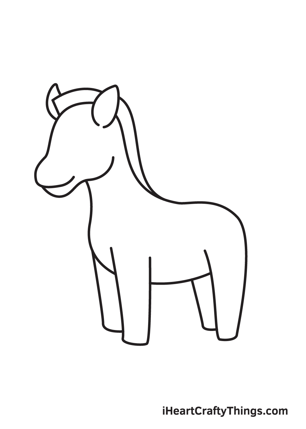 zebra drawing step 6