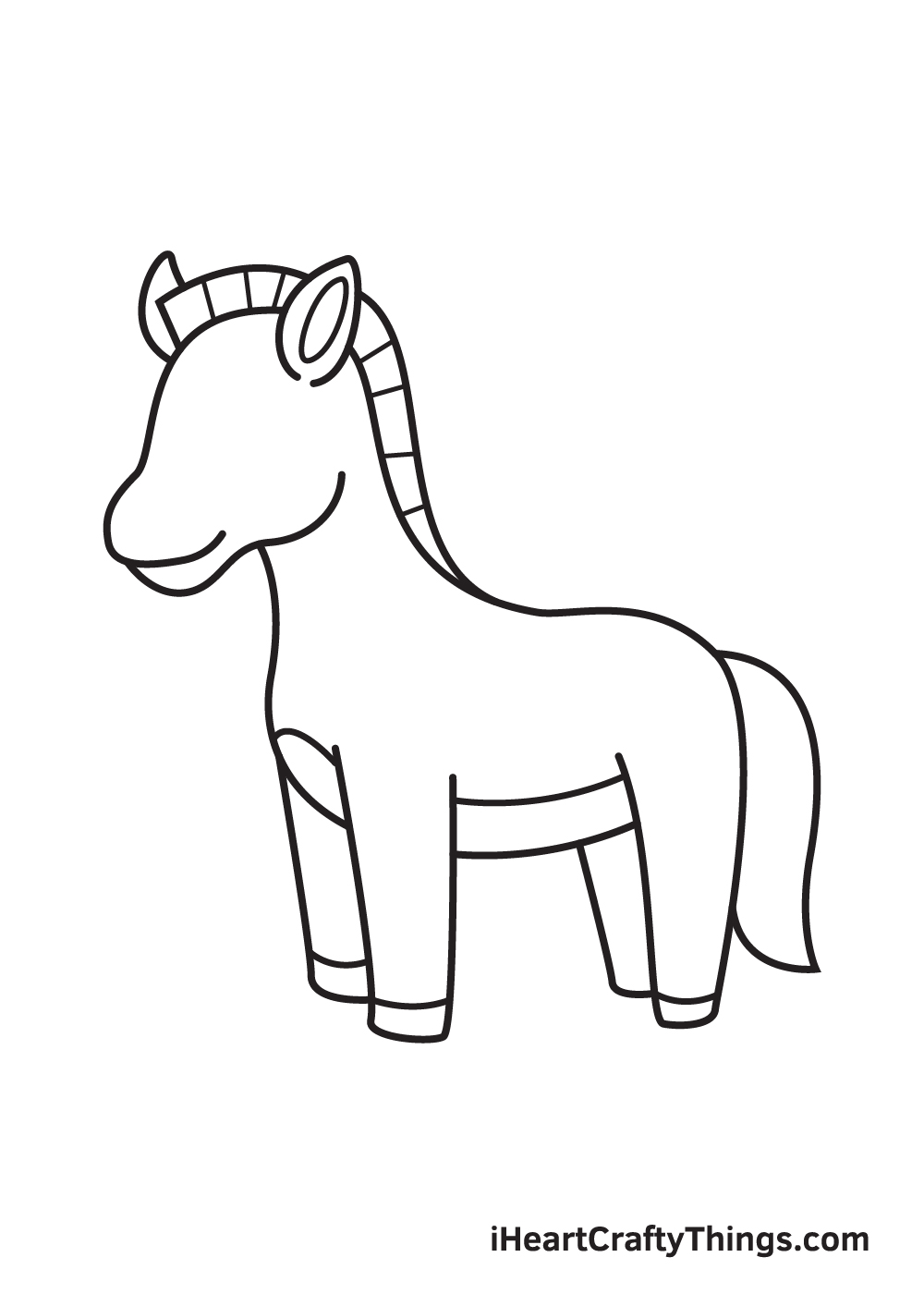 zebra drawing step 8