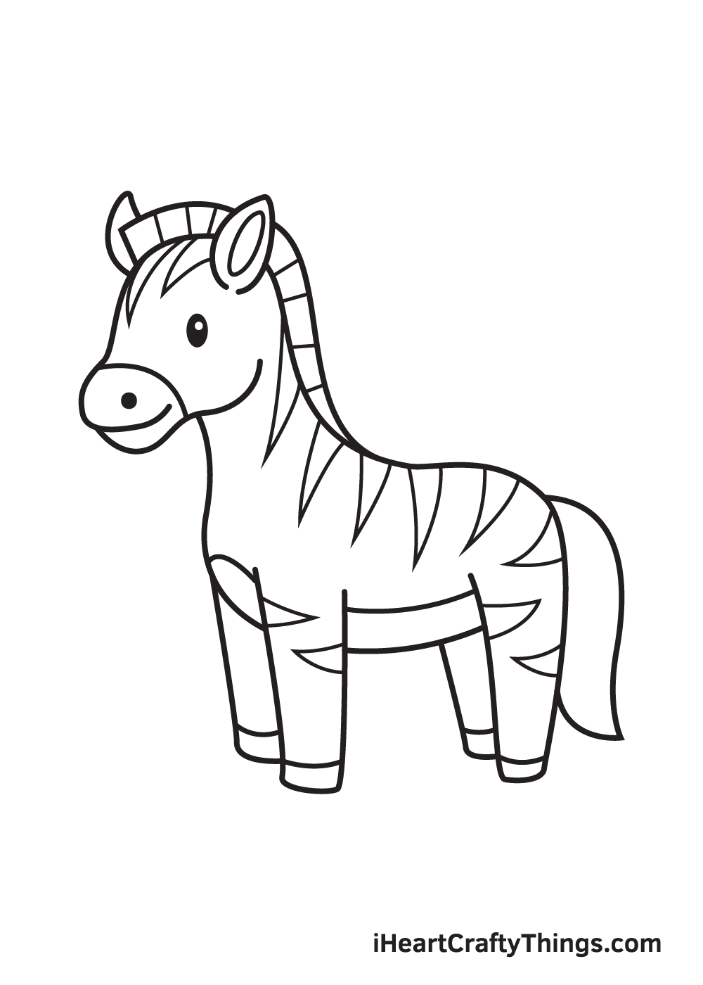 zebra drawing step 9