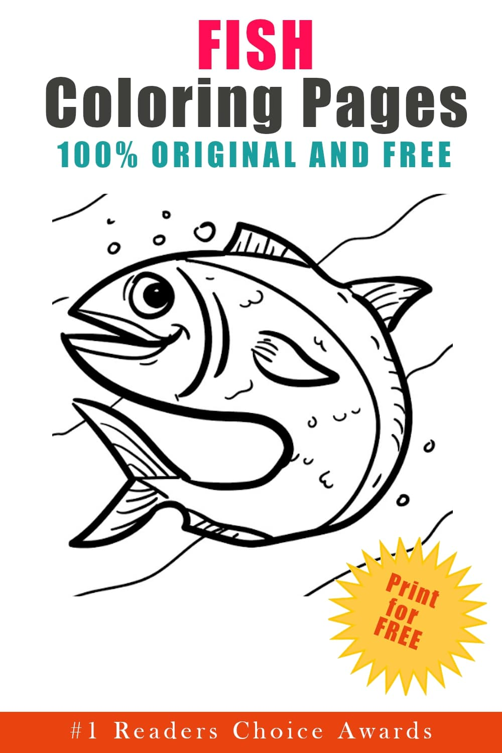 original and free fish coloring pages free download