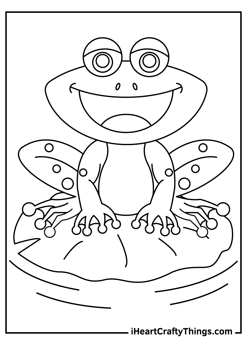 simple frog coloring pages free printable