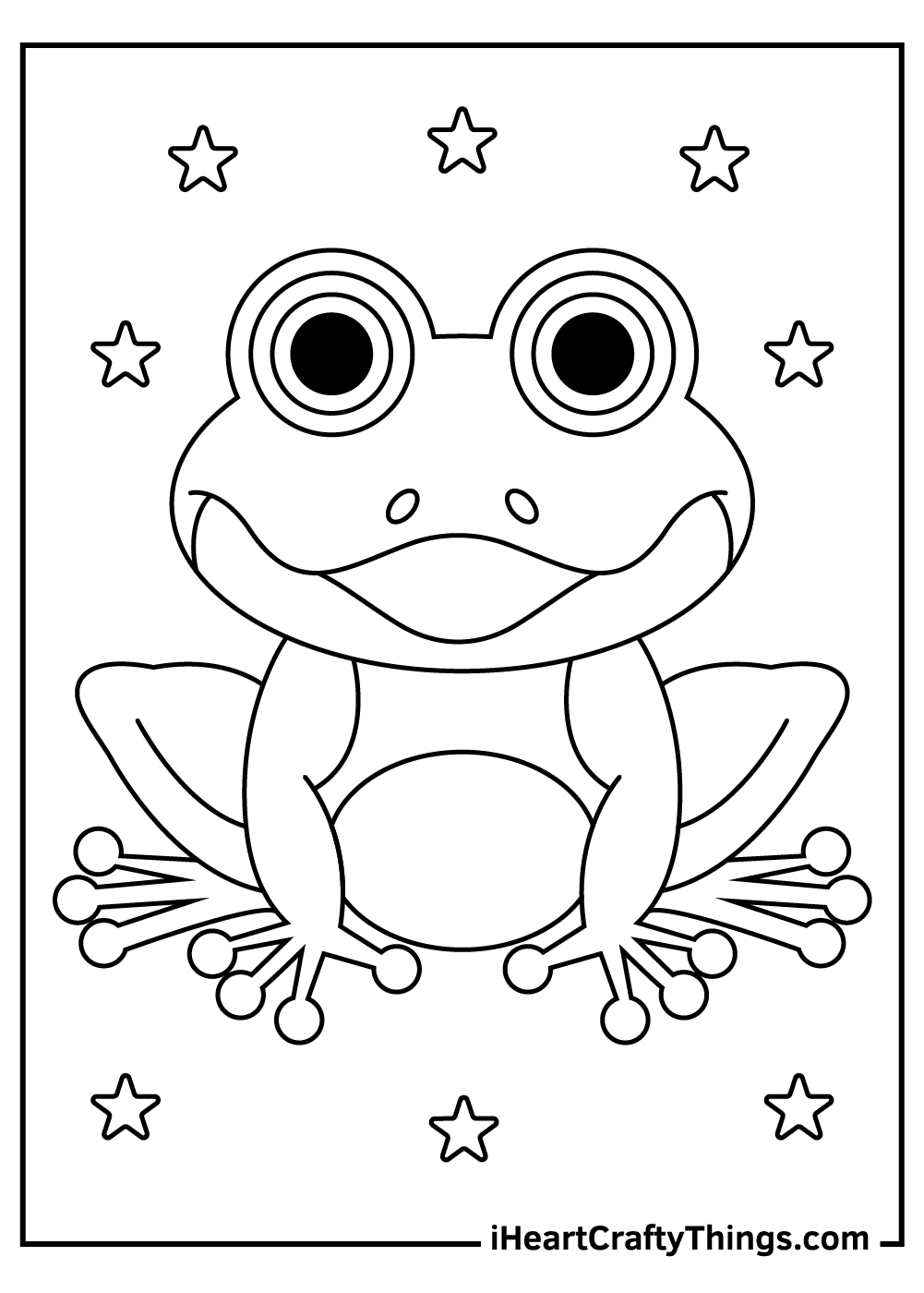 black and white frog coloring pages free