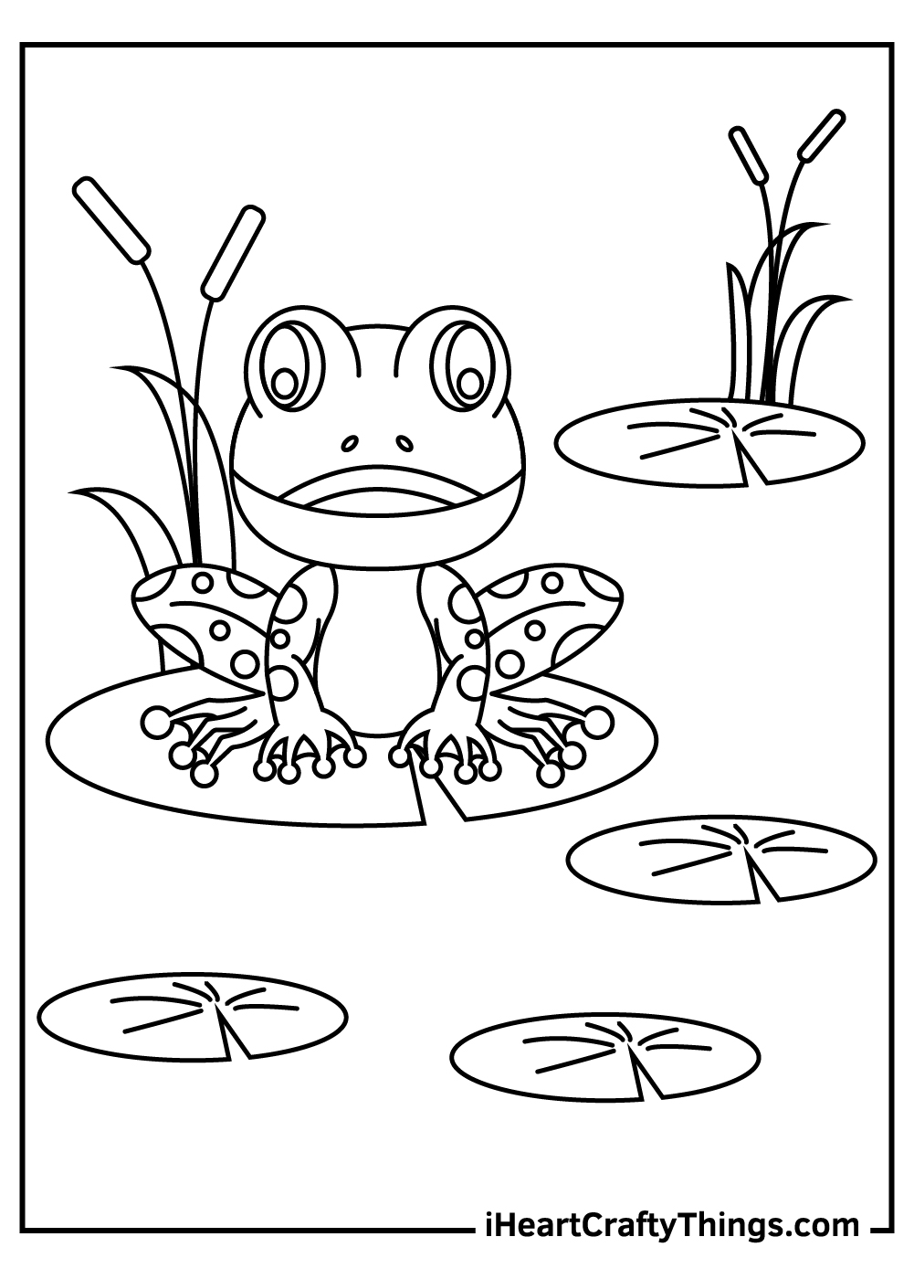 cute frog coloring sheets for kids free printable