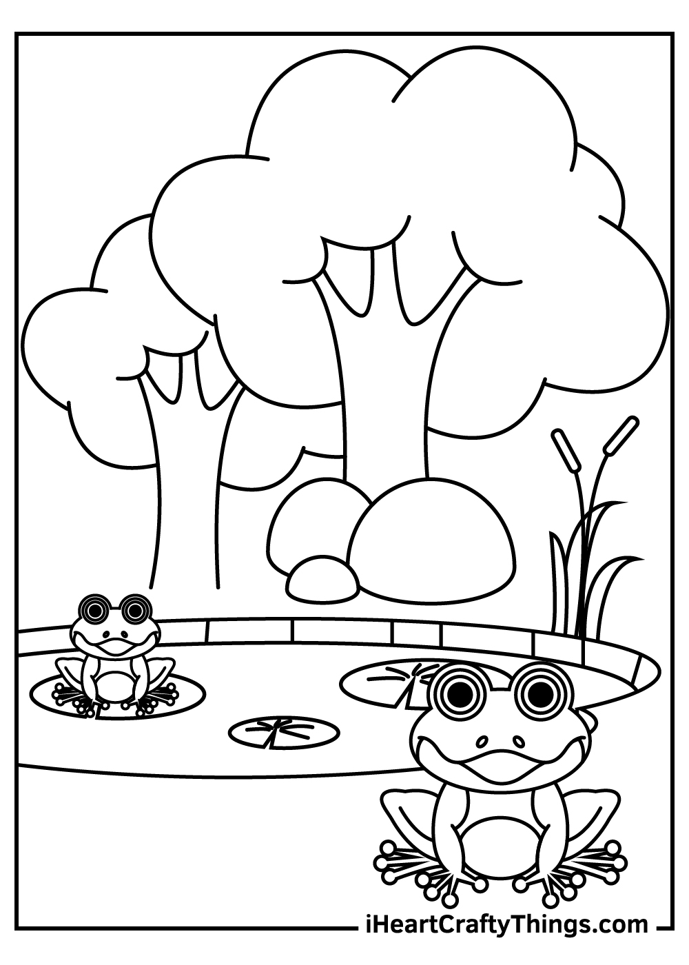 hard frog coloring pages free printable