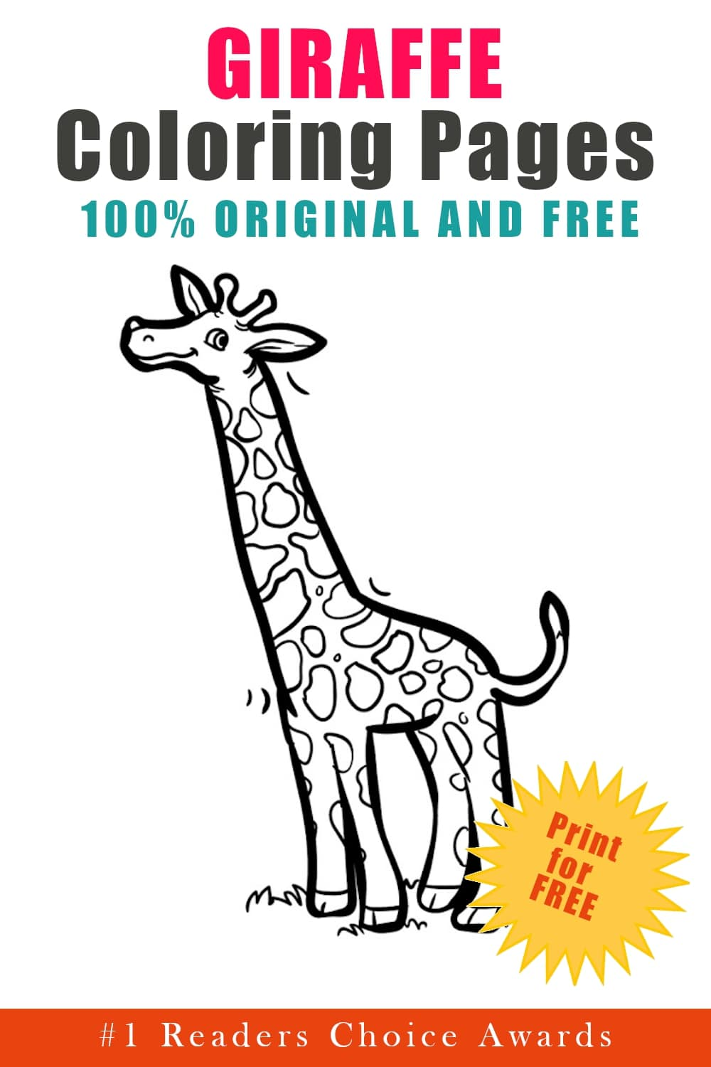 original and free giraffe coloring pages