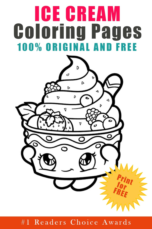 original free ice cream coloring pages