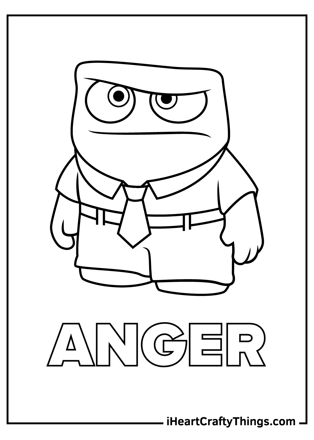 inside out coloring pages anger free printable