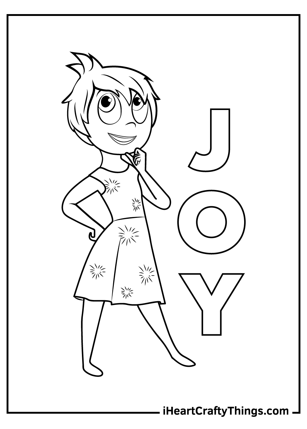 inside out joy coloring pages free printable