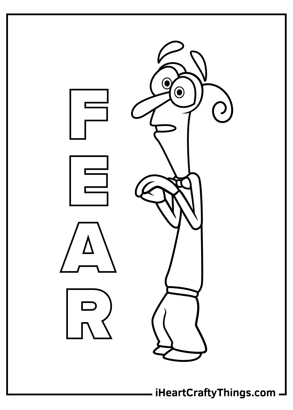 disney inside out fear coloring pages free printable