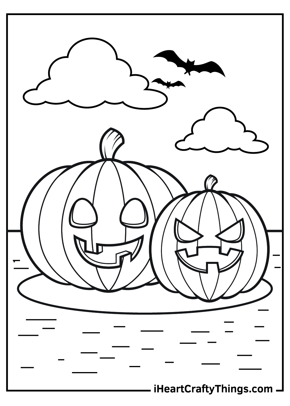 jack o lantern coloring pages for kids free