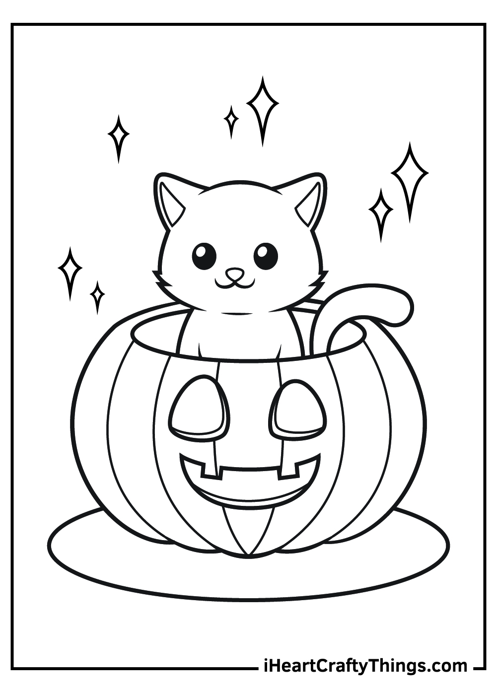 cute simple jack o lantern coloring pages