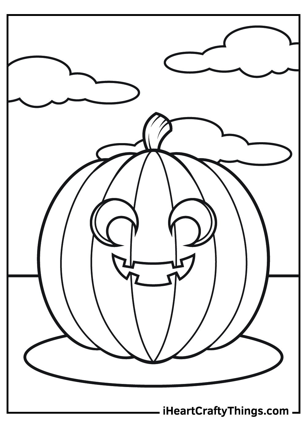 friendly jack o lantern coloring pages