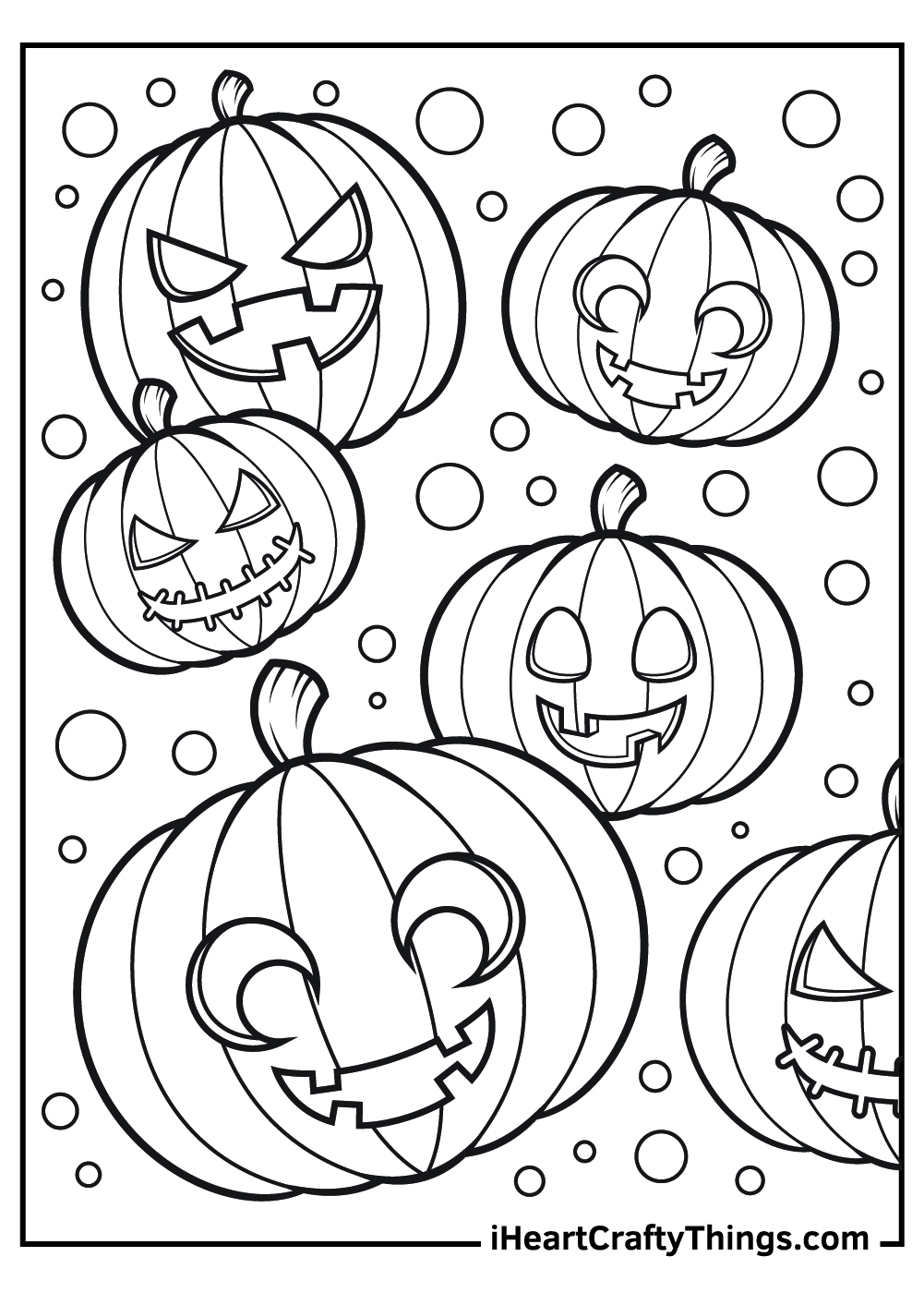 full page jack o lantern coloring pages free