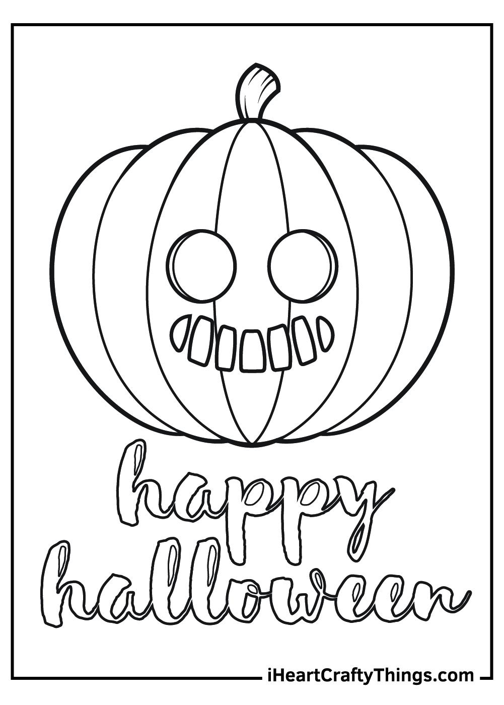 happy halloween jack o lantern coloring pages free pdf