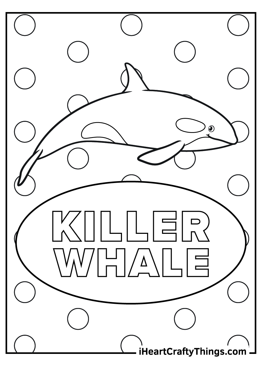 cartoon killer whale coloring pages