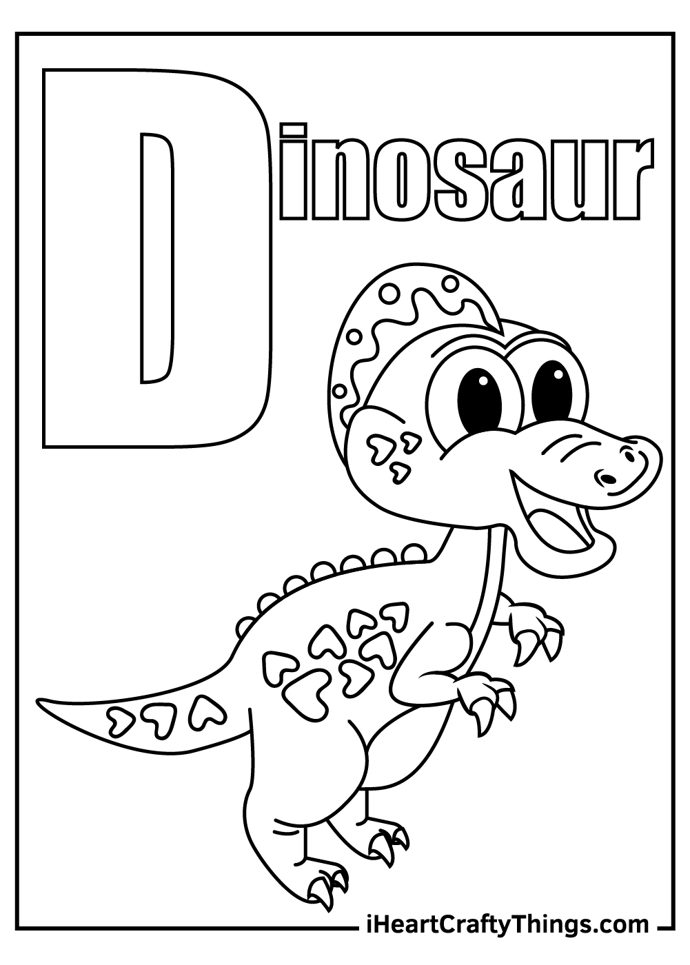 d is for dinosaur coloring pages free download