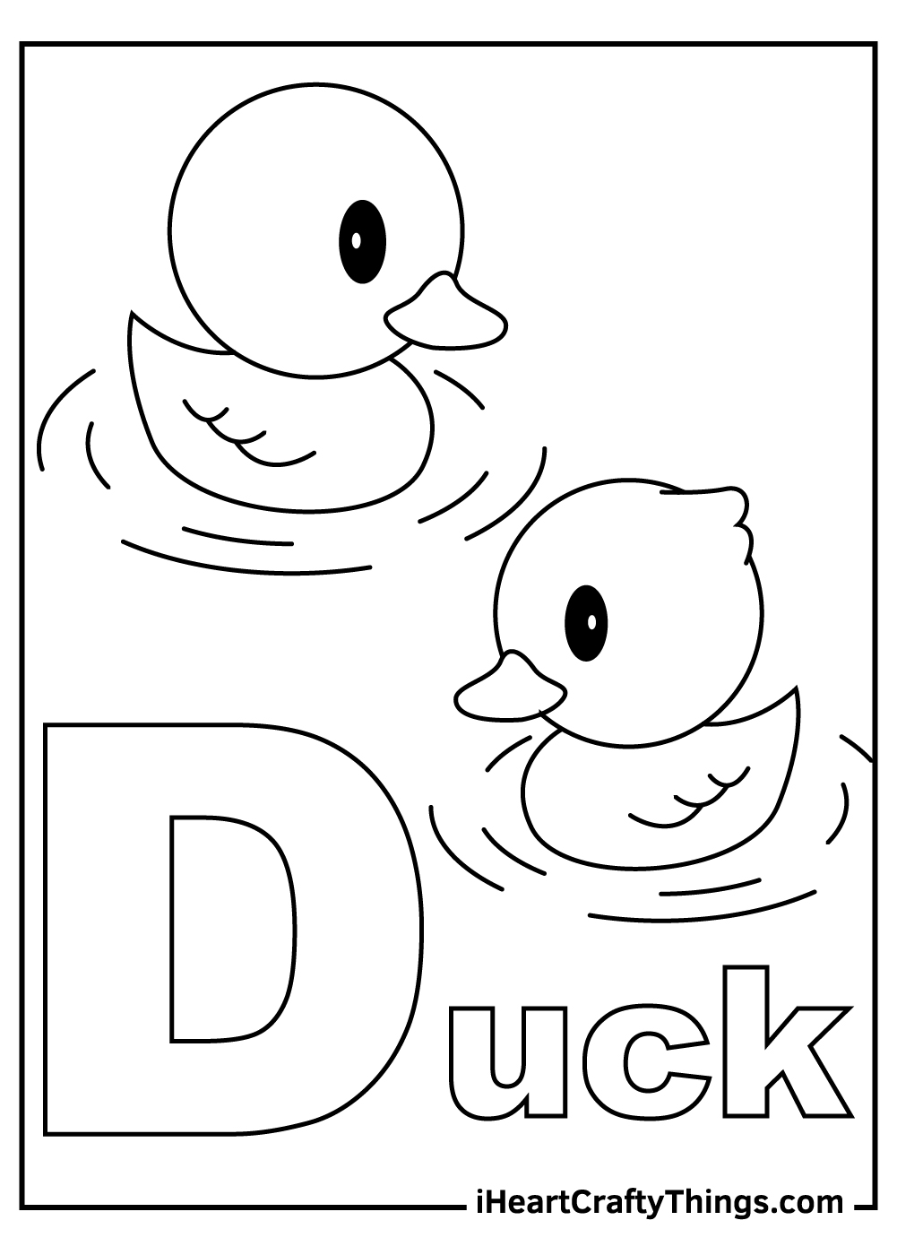 d is for duck coloring pages free printable