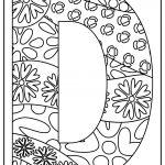 letter d coloring images free download